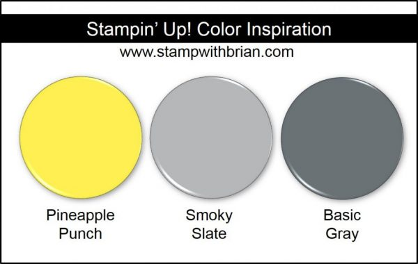 Stampin' Up! Color Inspiration: Pineapple Punch, Smoky Slate, Basic Gray