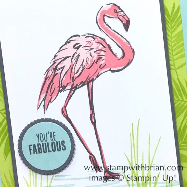 Fabulous Flamingo, Tabs for Everything, Stampin' Up!, Brian King