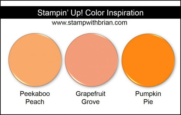 Grapefruit Grove Comparison, Stampin' Up! 2018-2020 In Color: Peekaboo Peach, Pumpkin Pie