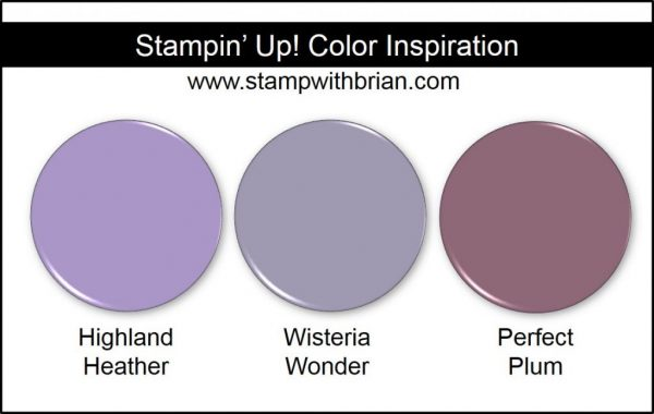 Highland Heather Comparison, Stampin' Up! New Color: Wisteria Wonder, Perfect Plum