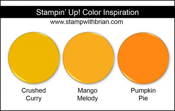 Mango Melody Comparison, Stampin' Up! New Color: Crushed Curry, Pumpkin Pie
