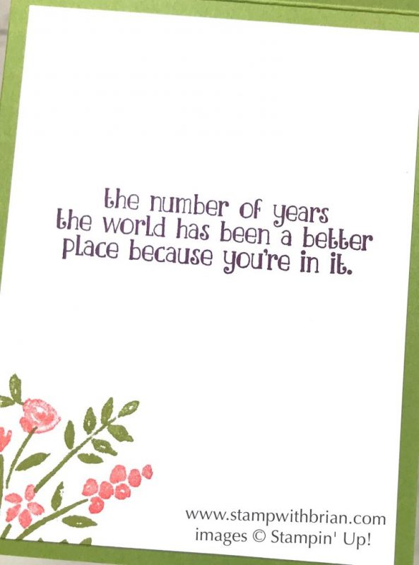 Number of Years, Stampin' Up!, Brian King, birthday card, CTS269