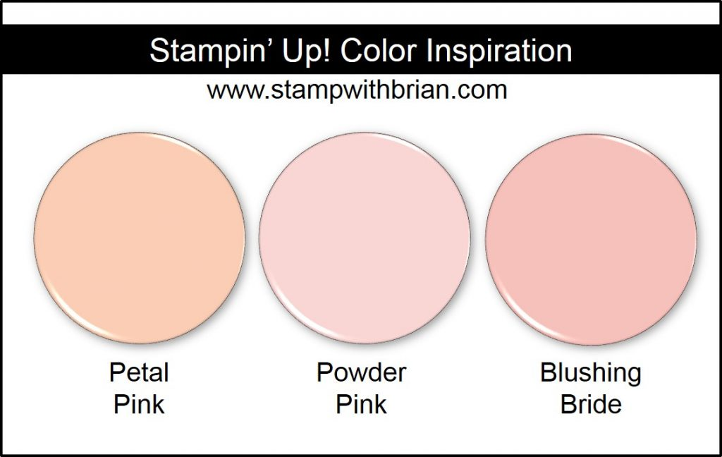 Petal Pink Comparison, Stampin' Up! New Color: Powder Pink, Blushing Bride