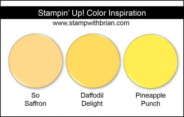 Pineapple Punch Comparison, Stampin' Up! 2018-2020 In Color: So Saffron, Daffodil Delight
