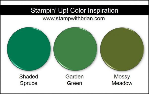 Shaded Spruce Comparison, Stampin' Up! New Color: Garden Green, Mossy Meadow