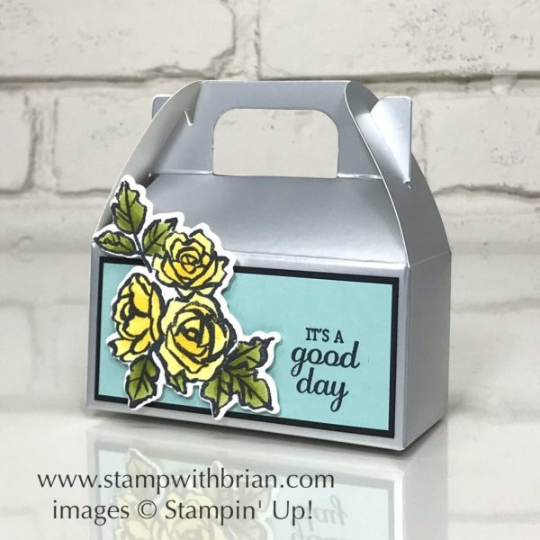 Silver Gable Boxes, Best Birds, Petal Palette, Stampin' Up!, Brian King, wedding favors