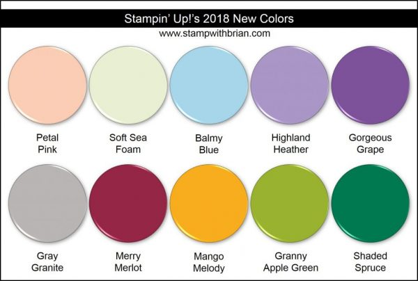 Stampin' Up! New Colors