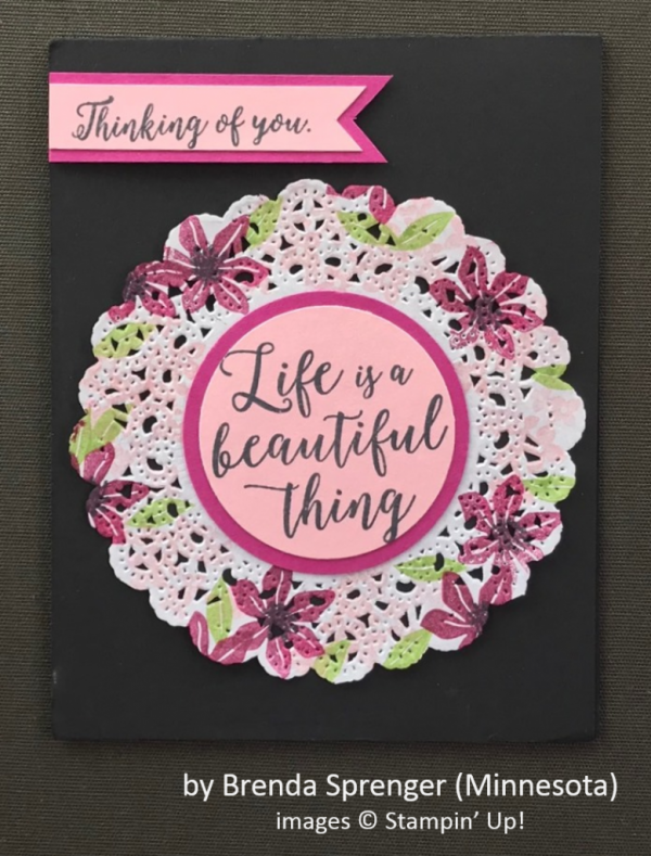 by Brenda Sprenger, Stampin' Up!, Spring One-for-One Card Swap