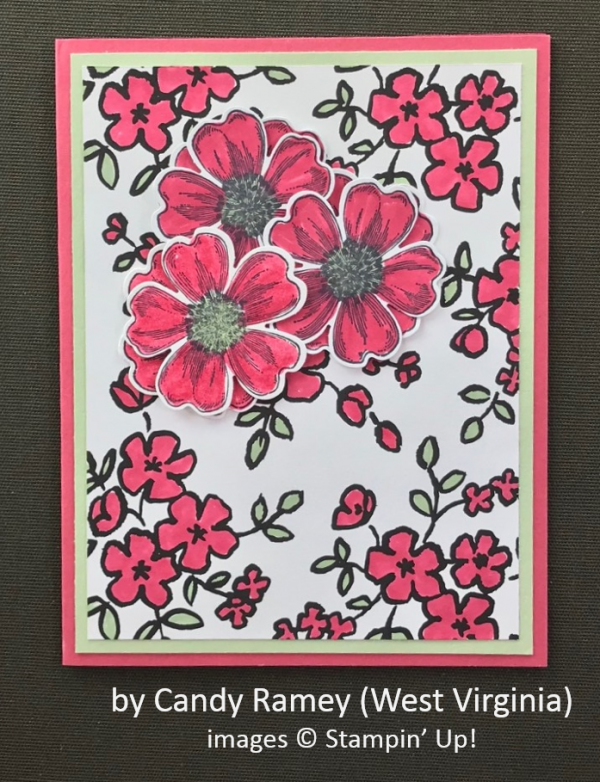 by Candy Ramey, Stampin' Up!, Spring One-for-One Card Swap