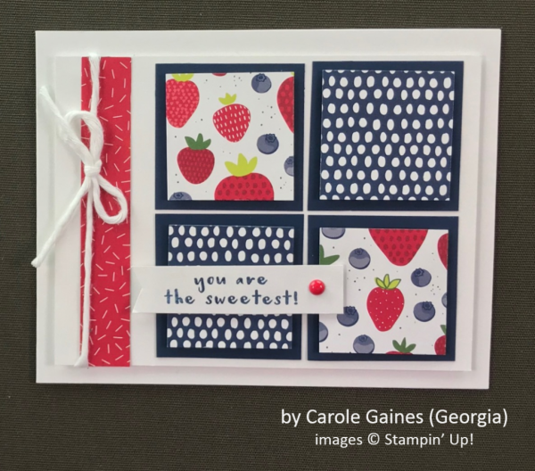 by Carole Gaines, Stampin' Up!, Spring One-for-One Card Swap
