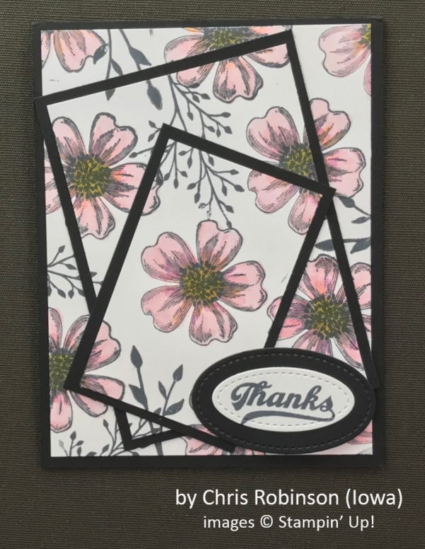 by Chris Robinson, Stampin' Up!, Spring One-for-One Card Swap