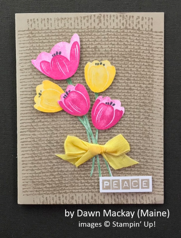 by Dawn Mackay, Stampin' Up!, Spring One-for-One Swap
