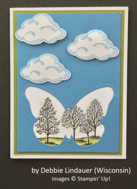 by Debbie Lindauer, Stampin' Up!, Spring One-for-One Card Swap