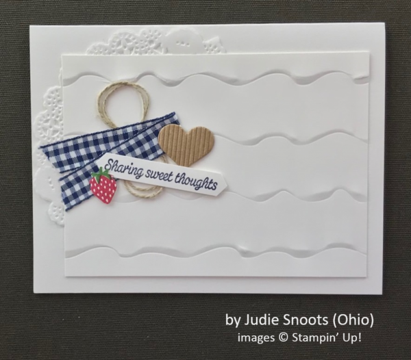by Judie Snoots, Stampin' Up!, Spring One-for-One Swap