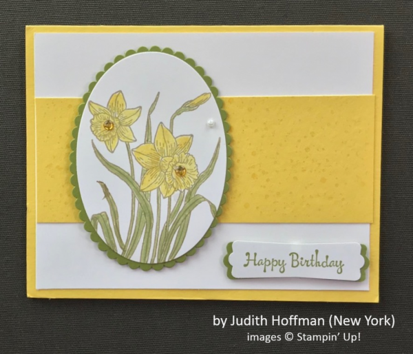 by Judith Hoffman, Stampin' Up!, Spring One-for-One Swap