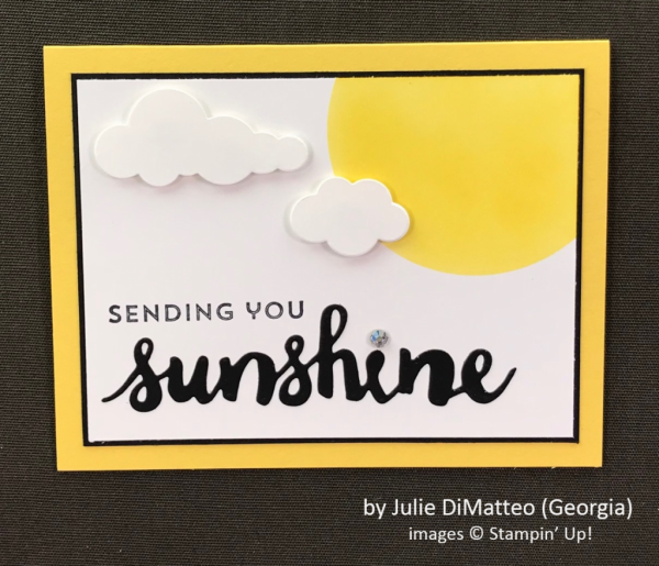 by Julie DiMatteo, Stampin' Up!, Spring One-for-One Card Swap