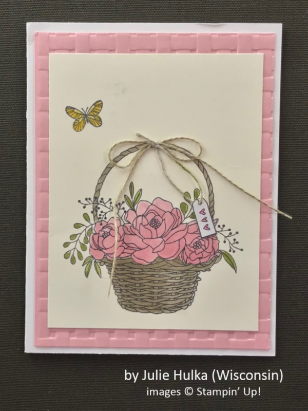 by Julie Hulka, Stampin' Up!, Spring One-for-One Card Swap