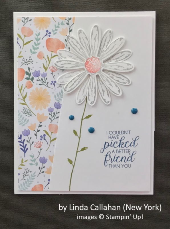by Linda Callahan, Stampin' Up!, Spring One-for-One Card Swap