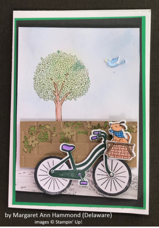 by Margaret Ann Hammond, Stampin' Up!, Spring One-for-One Card Swap
