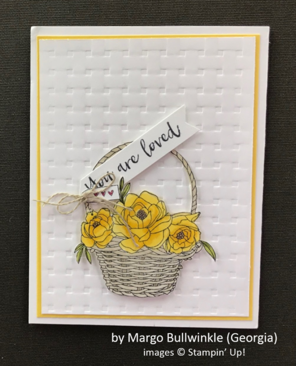 by Margo Bullwinkle, Stampin' Up!, Spring One-for-One Card Swap