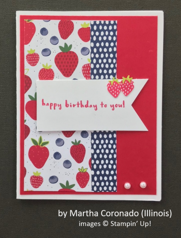 by Martha Coronado, Stampin' Up!, Spring One-for-One Swap