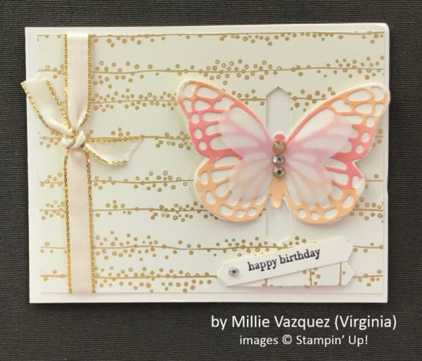 by Millie Vazquez, Stampin' Up!, Spring One-for-One Card Swap