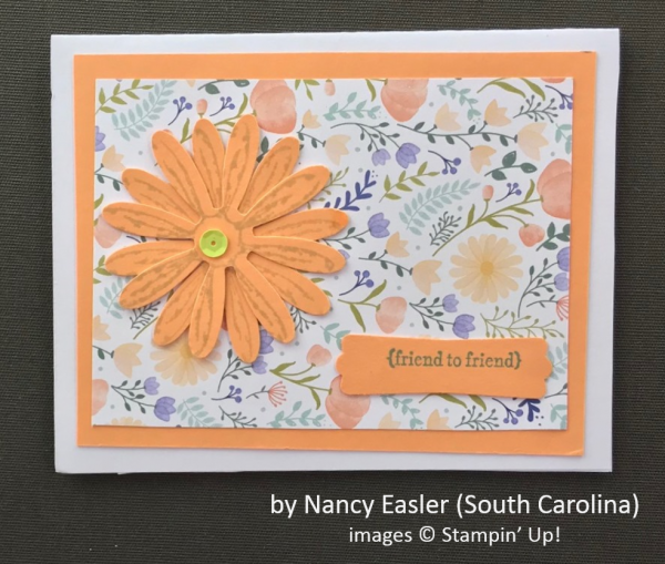 by Nancy Easler, Stampin' Up!, Spring One-for-One Card Swap