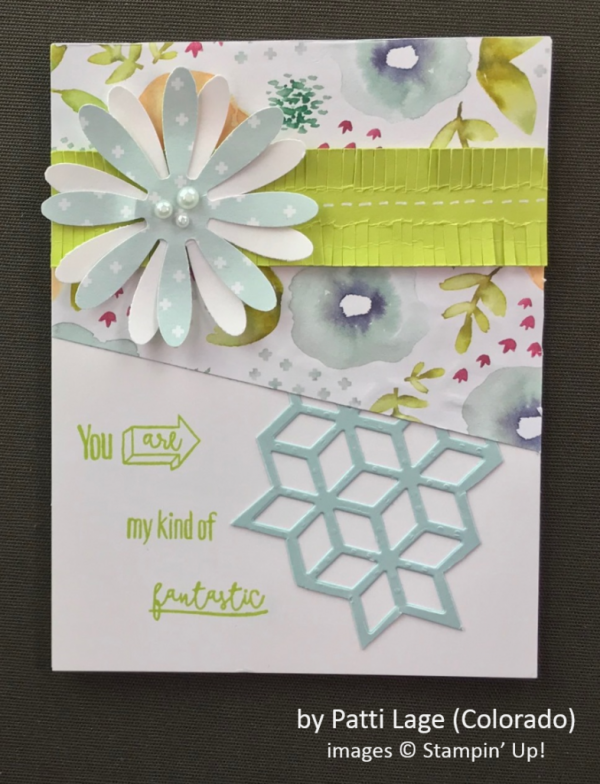 by Patti Lage, Stampin' Up!, Spring One-for-One Card Swap