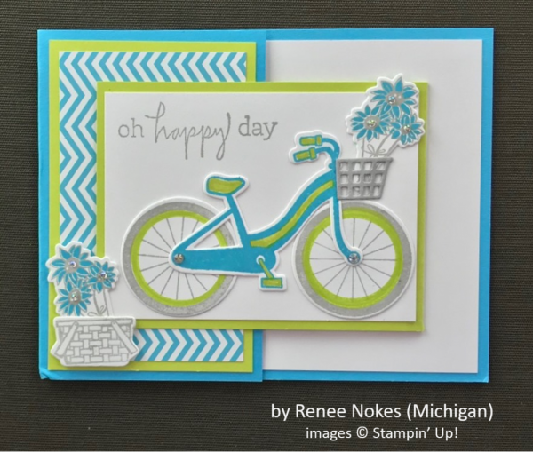 by Renee Nokes, Stampin' Up!, Spring One-for-One Card Swap