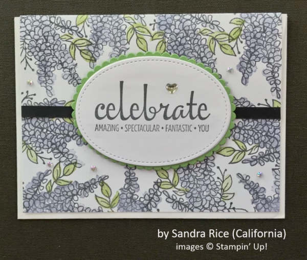 by Sandra Rice, Stampin' Up!, Spring One-for-One Swap