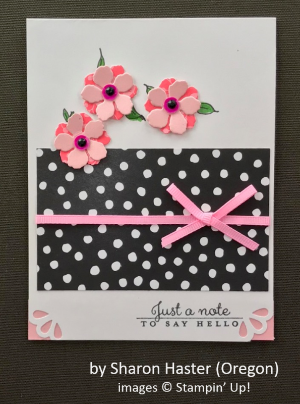 by Sharon Haster, Stampin' Up!, Spring One-for-One Card Swap