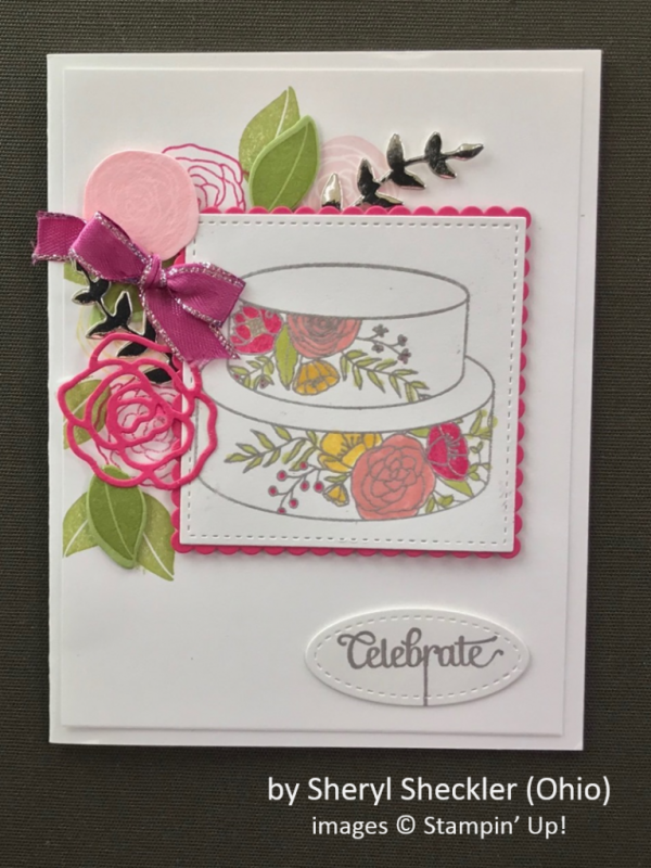 by Sheryl Sheckler, Stampin' Up!, Spring One-for-One Card Swap