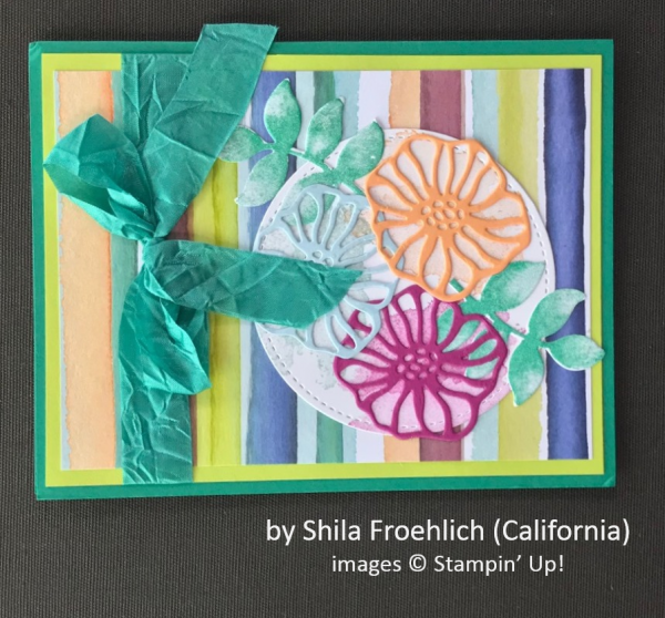 by Shila Froehlich, Stampin' Up!, Spring One-for-One Card Swap