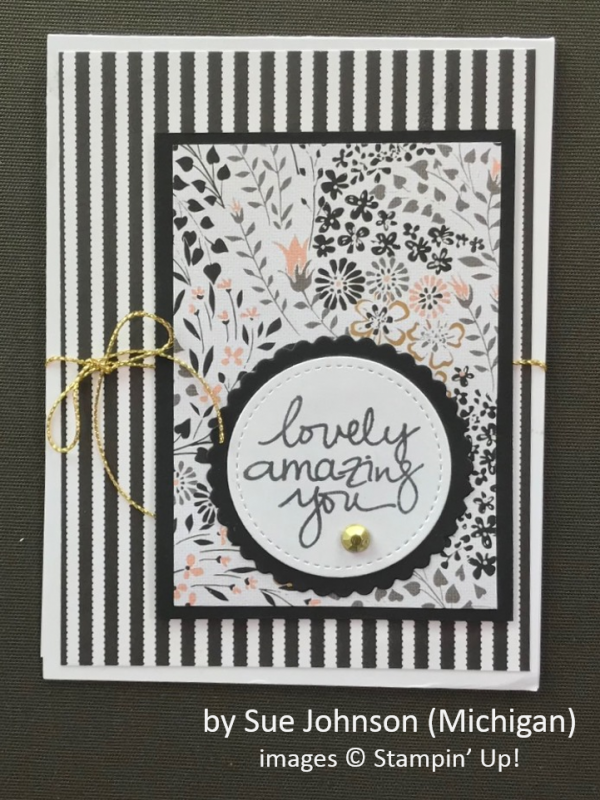 by Sue Johnson, Stampin' Up!, Spring One-for-One Card Card Swap