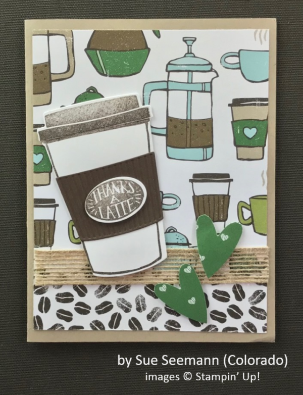 by Sue Seemann, Stampin' Up!, Spring One-for-One Card Card Swap