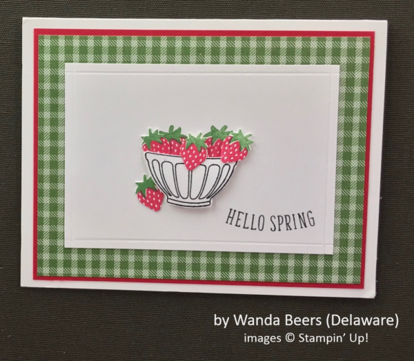 by Wanda Beers, Stampin' Up!, Spring One-for-One Card Card Swap