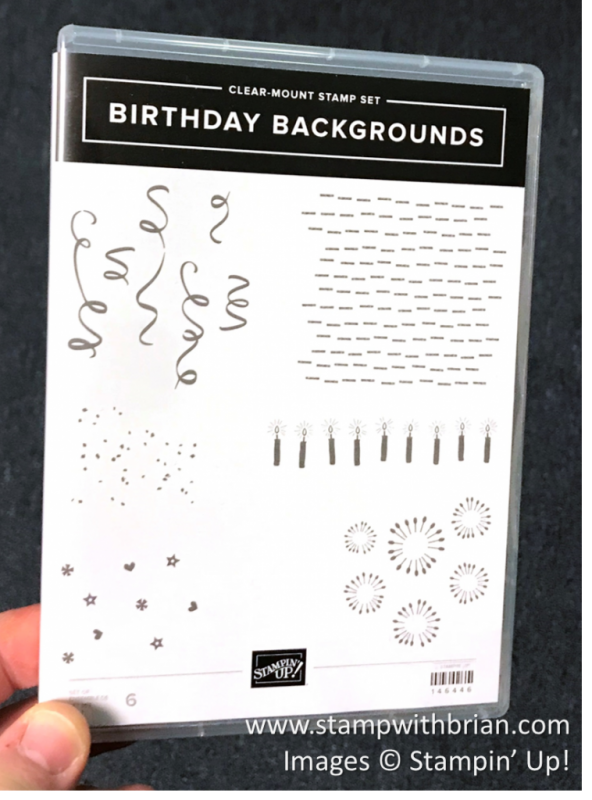 Birthday Backgrounds, Stampin' Up! 146446