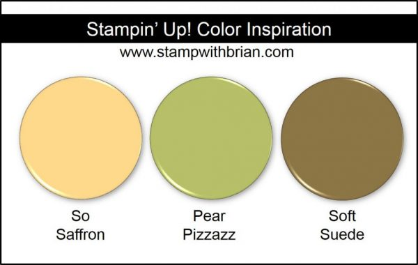 Stampin' Up! Color Inspiration: So Saffron, Pear Pizzazz, Soft Suede