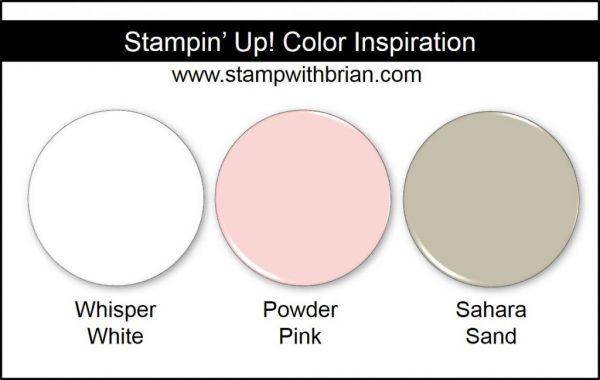 Stampin' Up! Color Inspiration: Whisper White, Powder Pink, Sahara Sand