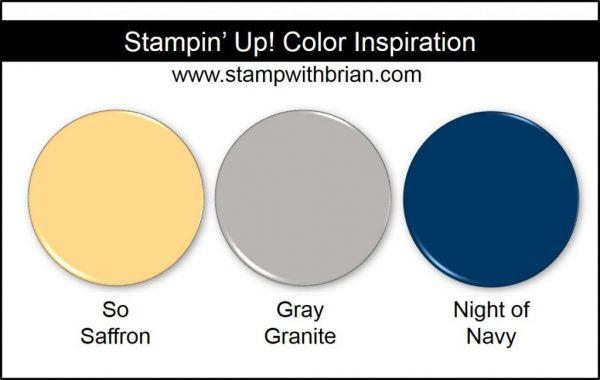 Stampin' Up! Color Inspiration: So Saffron, Gray Granite, Night of Navy