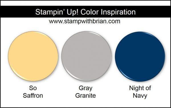 Stampin' Up! Color Inspiration: So Saffron, Gray Granite, Night of Navy