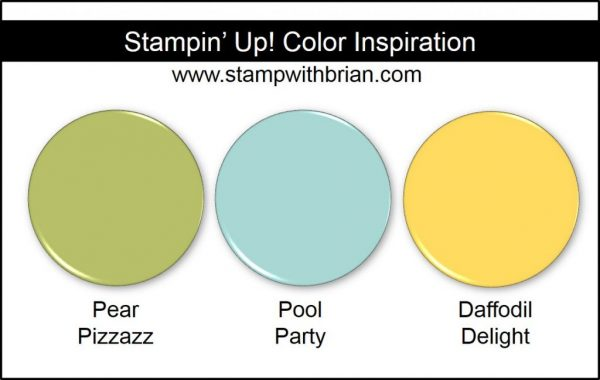 Stampin' Up! Color Inspiration: Pear Pizzazz, Pool Party, Daffodil Delight