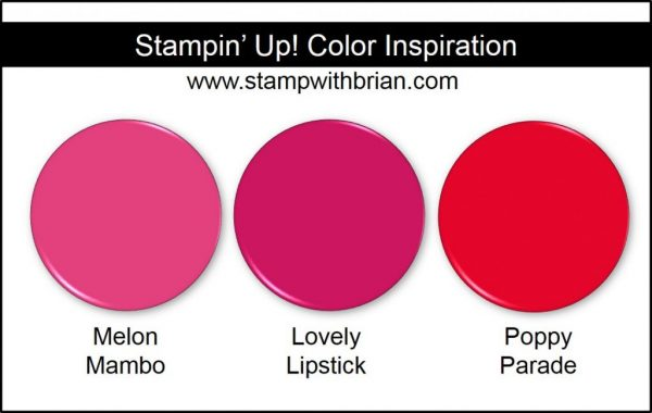 Stampin' Up! Color Comparisons: Melon Mambo, Lovely Lipstick, Poppy Parade