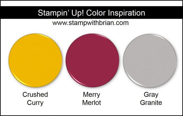 Stampin' Up! Color Inspiration: Crushed Curry, Merry Merlot, Gray Granite
