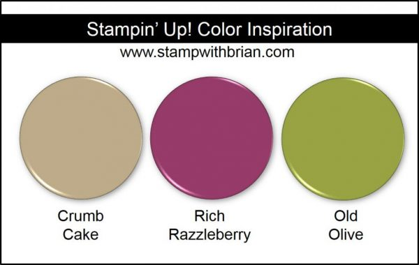 Stampin' Up! Color Inspiration: Crumb Cake, Rich Razzleberry, Old Olive