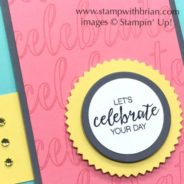Calligraphy Essentials, Bunch of Blossoms, Stampin' Up!, Brian King, celebration card