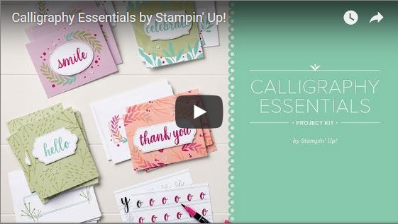 Calligraphy Essentials Project Kit Video, Stampin' Up!