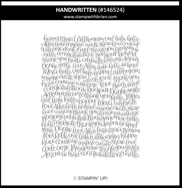 Handwritten, Stampin' Up!, 146524