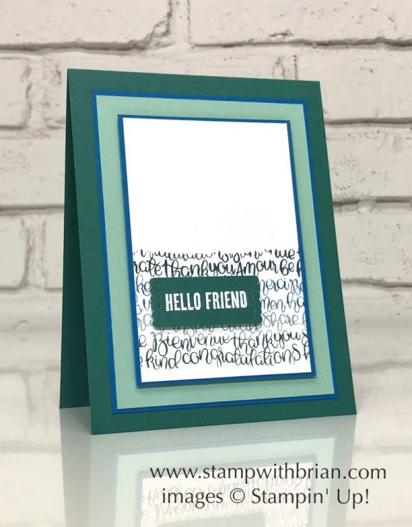 Handwritten, Wood Words, Stampin' Up!, CTS273