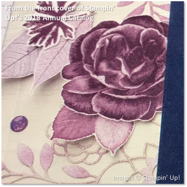 Healing Hugs, Stampin' Up! 2018 Annual Catalog Cover, Fresh Fig